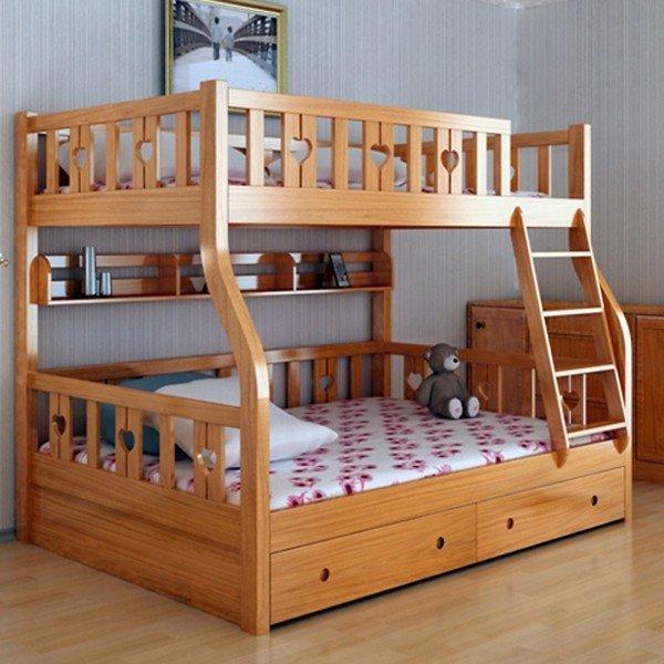 giường 2 tầng cầu thang đơn