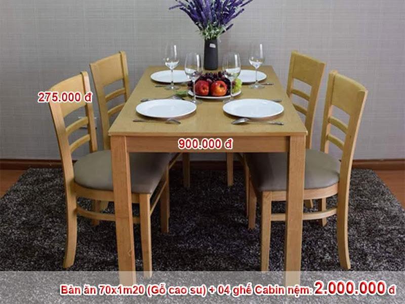 bộ bàn 4 ghế cabin