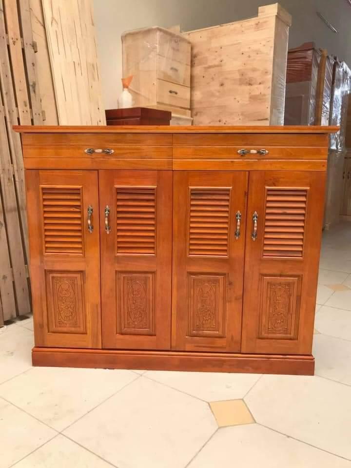 tủ dép gỗ cao su tự nhiên sơn màu