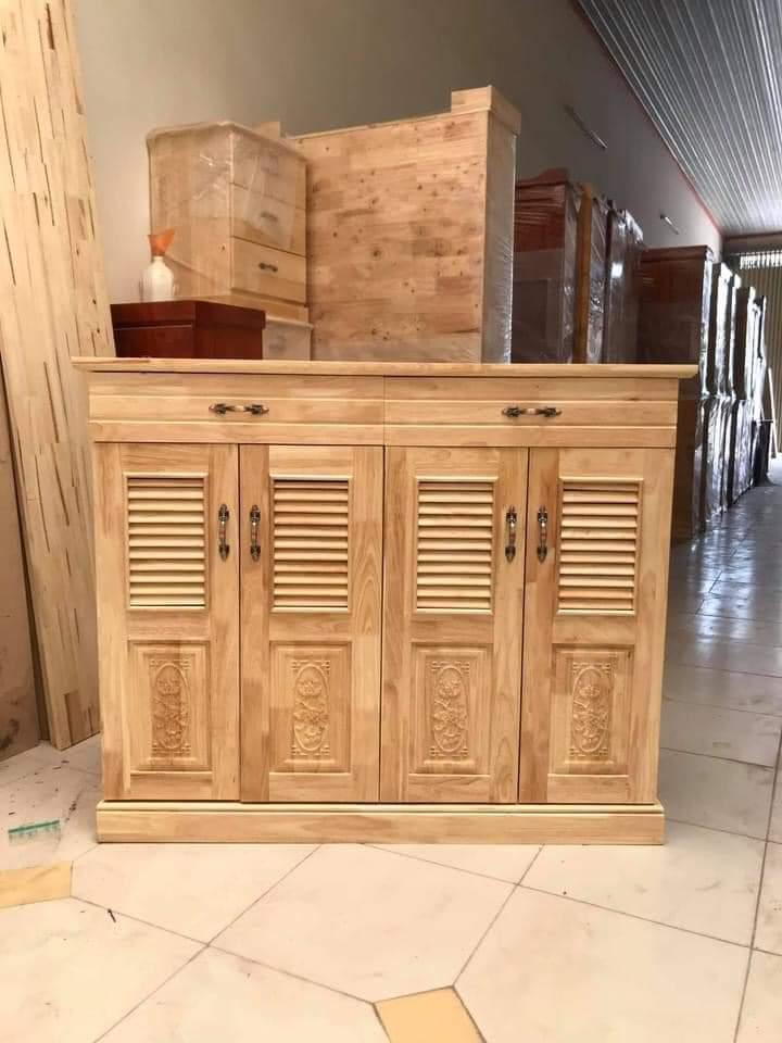 tủ giày gỗ cao su tự nhiên