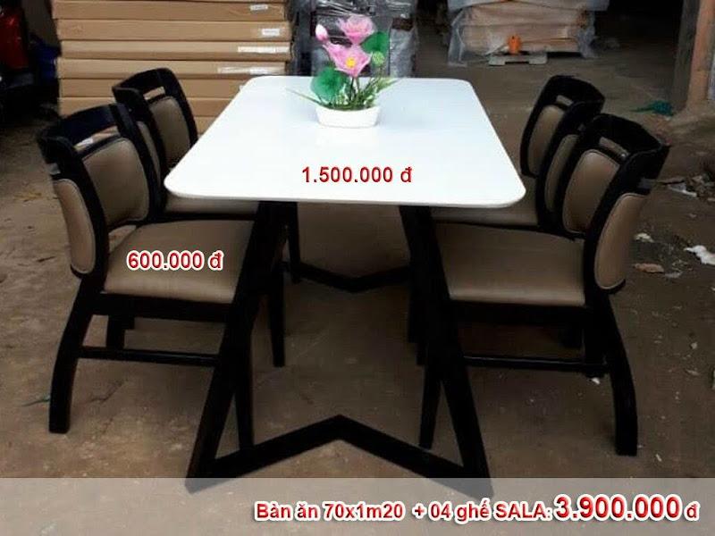 bộ bàn 4 ghế sala