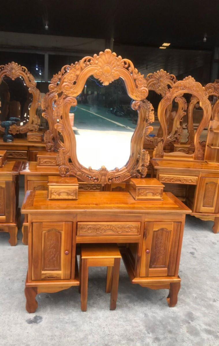 bàn trang điểm gỗ tràm