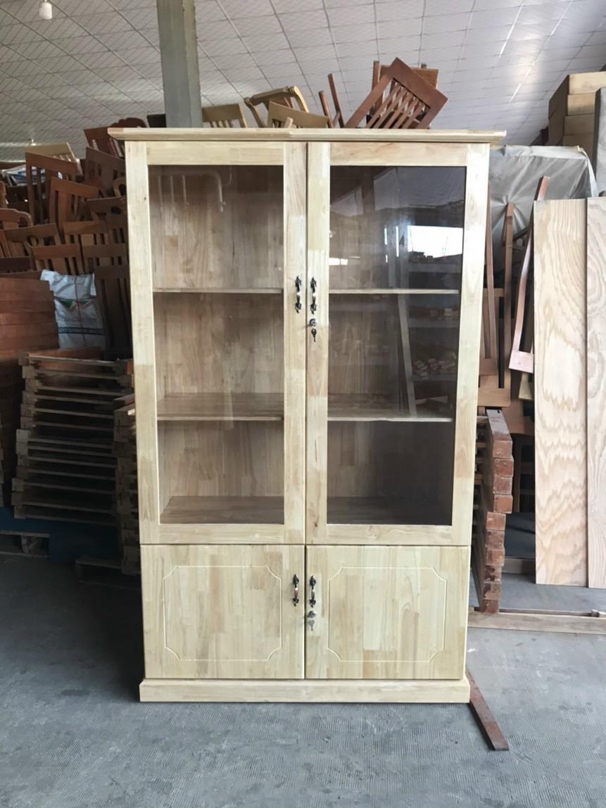 tủ hồ sơ gỗ ghép cao su tự nhiên