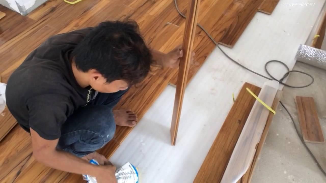 thợ mộc thi công sàn gỗ biên hòa