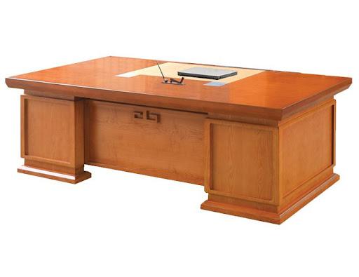 bàn làm việc gỗ phủ venner tự nhiên